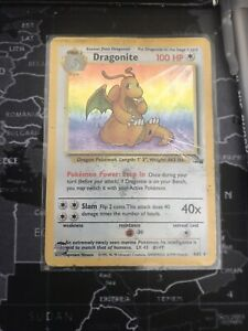 Pokemon Cards Dragonite Fossil Holo 4/62
