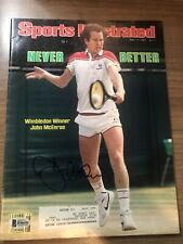 JOHN McENROE Autographed 7/11/83 Sports Illustrated Wimbledon Winner BAS Beckett