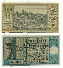 OLD GERMANY EMERGENCY PAPER MONEY - NOTGELD Berlin 1921 50 Pf Townships 11