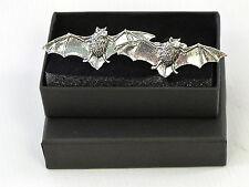 Flying Bat Vampire? Fine English Pewter Cufflinks Gift Mens Boxed