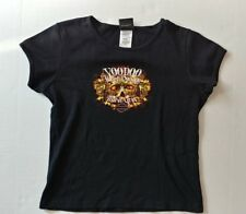 Ladies Teens Large Mardi Gras *VOODO* Harley Davidson Black S/S Shirt L@@K