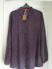 Joules Elvina Navy Ivory Red Dotty Hearts Shirt Blouse Top. UK 18 EUR 46.
