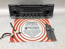 6 Button Classic Becker Europa II Stereo Car Radio for Mercedes Porsche Restored