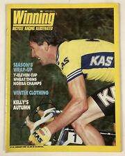 Vintage Jan 1987 Winning Cycling Bicycle Racing Illustrated Magazine Issue #42