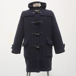 Burberry Wool Nova Check Lined Duffle Coat Jacket Made in England