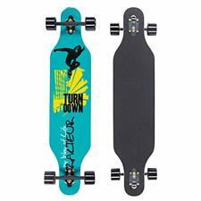 Longboard Skateboard, 41-Inch Downhill Skateboard Through Deck 8-Layer F