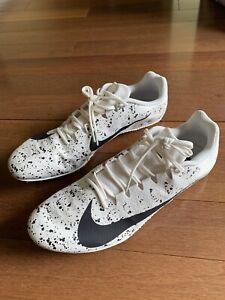 Nike Zoom Rival S 9 White Black Running Track Shoes Sprint 907564-002 Men's 13