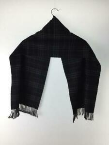 Burberry london 100% cashmere black check scarf 142cm x 30cm