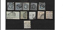 Ex Colonias Españolas. Antillas 12 sellos usados con matasellos algunos raros