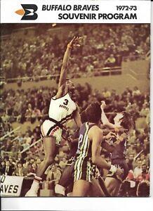 1972-73 Buffalo Braves-Lakers Program LA Tops Braves NICE!!