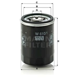 Mann W610/1 Oil Filter Spin On 90mm Height 66mm Outer Diameter Service