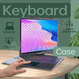 360° Rotate Stand Flip Keyboard Cover for iPad Pro 12.9 2020 2021 4/5th Gen Case