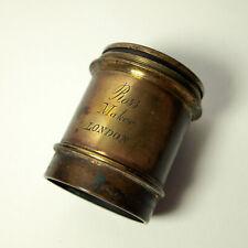 Ross Brass Lens. Early unusual Ross Maker, London Brass Lens
