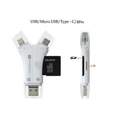 Q18 Tf & SD OTG Card Reader For PC Smartphone With USB Type-C Micro B