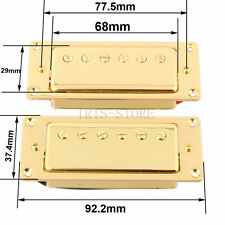 2PCS Sealed Bridge and Neck Pickup Mini Humbucker for LP Guitar Golden