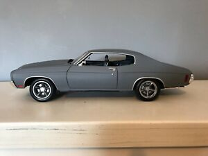 1/18 1970 Chevrolet Chevelle SS in Matt Grey - Fast and Furious by Greenlight