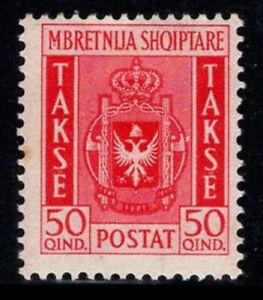 Albania 1940 Mi. 39 MH 40% postage due 50 Q