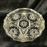 "Vintage Anchor Hocking Clear Glass Star of David 7-3/4"" Ashtray"