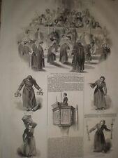 Reina Victoria visita a Cristo's Hospital Bluecoat Boys 1845 impresiones Ref D