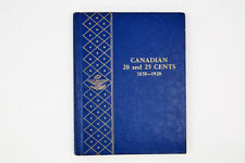 1858-1920 Canadian 20 and 25 Cents Empty Whitman Album