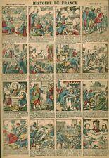 Gravure ancienne  image d'Epinal histoire de France feuille no 18