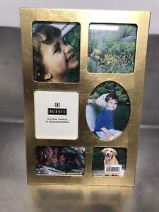 Burnes Gold 6 OPG Collage Picture Frame - NWOT