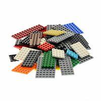 50x Lego System Bau Platten Form Farbe zufällig bunt gemischt z.B. rot grün blau