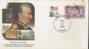 1984 Orange Virginia President Zachary Taylor Koslow Cachet First Day Cover