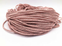 5-10M pink Colors Three Strands of Cord Twisted Cord Trim Rope Thread 3mm