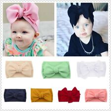 Infant  Baby Soft Headband Elastic Bowknot Hair Band Girls Newborn Head LargeBow