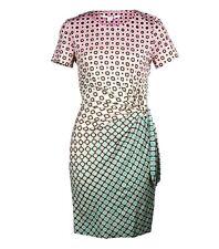 DIANE VON FURSTENBERG Zoe Fouldade Ombre Silk Dress US6 UK10