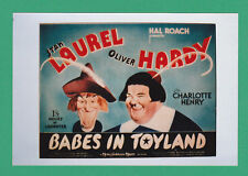 ACTORS  -  POSTER  PHOTOGRAPH  -  LAUREL  &  HARDY  -  BABES  IN  TOYLAND   (C)
