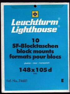 Lighthouse STAMP MOUNTS CLEAR - 10 STRIPS 105 WIDE, 148mm Long