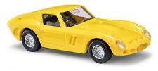 BUSCH 42602 Escala H0 Ferrari 250 GTO, amarillo #NUEVO