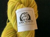 Alpaca Merino Silk Nylon Sock Yarn 450 yards Yellow Green