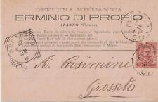 1900 Alanno Teramo Pescara  officina meccanica cartolina pubblicitaria