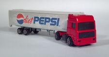 Majorette Diet Pepsi Cola Volvo COE Semi Delivery Truck Trailer Scale Model