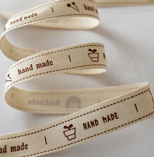 Cotton Ribbon Sewing Label Handmade Needle Flower Pot