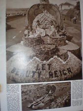 Photo article the Battle of the Flowers at Jersey 1957