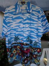 BIG BROTHER Small Hawaiian Aloha Shirt Classic Convertible Surfboards Island
