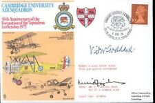 Raf cambridge university air escadron couverture signé wwi arn/la seconde guerre mondiale bef
