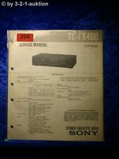 Sony Service Manual TC FX400 Cassette Deck (#0224)