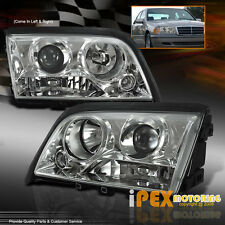 C-CLASS 1994-2000 Mercedes Benz W202 C220 C230 C280 Projector Chrome Headlights