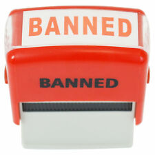 Banned Stamp Self Inking Novelty Message Trump POTUS Rubber Stamper Red Ink NEW