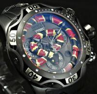 Invicta 52mm Reserve KING VENOM Swiss Movt Chrono SNAKE DIAL Black IP SS Watch