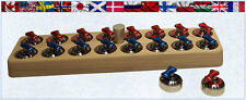 Curling Game Stone Set Complete Set of Rocks with Holder ~ Cool Curling