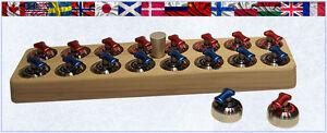 Curling Game Stone Set Complete Set of Rocks with Holder ~ Cool Curling