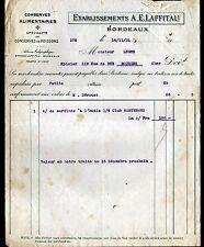 """BORDEAUX (33) CONSERVES ALIMENTAIRES & de POISSONS """"A.E. LAFFITAU"""" en 1921"""