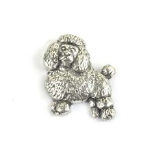 Poodle Pewter 3D Lapel Pin Badge/Brooch Miniature Toy Standard Dog BNWT/NEW Gift