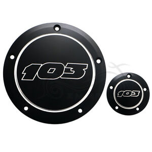 Motorcycle Black CNC Derby Timer Cover For Harley Dyna Road Glide King FLD FXDWG